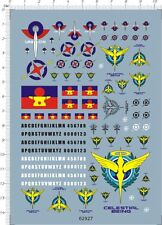 All Scale RG HG MG PG 00 Emblems celestial being Roundel Gundam Model Decal