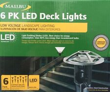 6-Pack Malibu Low Voltage Deck/Path Lights - Stainless Steel - NEW 8411-3410-06