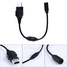 Black Breakaway Extension Cable Lead Replacement for XBOX CONSOLE Controller New