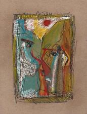 Caras abstracto en el estilo de Picasso Dibujo Pastel 2013 indistinto firma