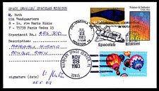 1983 LAUNCH COLUMBIA STS-9 - MATERIALS SCIENCE EXPERIMENT - SIGNED (ESP#2836)