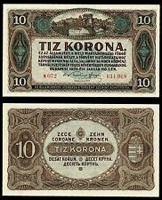 HUNGARY 10 Korona 1920 P#60 paper banknote Ungarn UNC