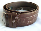 "KILT BELT BROWN LEATHER CELTIC SERPENT EMBOSSED size 38"" - 42"" by Glenesk KILTS"
