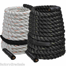 "1.5""/2"" Poly Dacron 30/40/50ft Battle Rope Workout Strength Training Undulation"