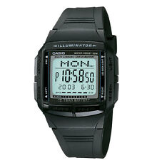Casio DB36-1AV, 30-Page Databank Watch, Resin Band, 5 Alarms, 10 Year Battery