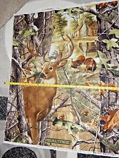 Real Tree Deer & Turkey Panel Buck Cabin 10149 Print Concepts 36 x 44 Cotton
