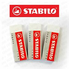 3 x STABILO LEGACY MARS ERASER PLASTIC RUBBER ERASERS