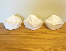3 NEW WHITE NAVY SAILOR HATS POPEYE GILLIGAN DOUGHBOY ADULT COSTUME ACCESSORY