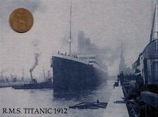 "TITANIC WITH 1912  COIN METAL WALL PLAQUE / SIGN 8"" X 6"" WITH FIXING PADS #2"