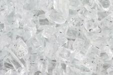 "10 LBS 1/4"" CRYSTAL ICE, STARFIRE FIREGLASS Fireplace Fire Pit Glass Rocks"