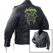 NEW METALLICA Leather Jacket hoodie concert t shirt tee band rock metal cd art