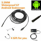 3.5/2/1.5/1M 5m Android Endoscope Waterproof Borescope Inspection Camera 6LED