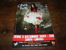OLIVIA RUIZ - FLYER CONCERT DECEMBRE 2009 !!!!!!!!!!