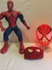 "Columbia Pictures SPIDER-MAN Moving/Talking Action HERO 14.5"" Tall + Lamp & Mask"