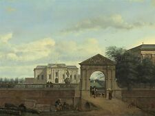 JAN VAN DER HEYDEN DUTCH ARCHITECTURAL FANTASY OLD ART PAINTING POSTER BB5797A