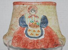Italica Ars Italian Pottery Wall Pocket Lady with Basket Signed by Artist EUC