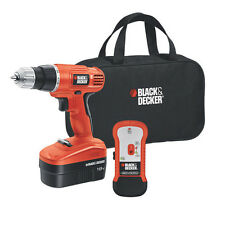 Black & Decker 18V Drill with Stud Sensor and Storage Bag GCO18SFB New