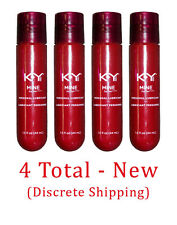 Set of 4 KY K-Y Mine For Her - Jelly: Lubricant Lube Sex Personal Discrete - NEW