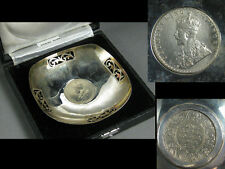 1912 British India George Ⅹ Silver Plate / Silver 925 One Rupee / W 9.3× H 2[cm]