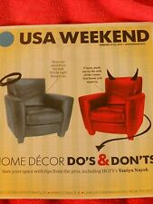USA WEEKEND MAGAZINE FEBRUARY 21-23 2014 HOME DECOR DOS AND DONTS