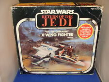 Star Wars Vintage Battle Damaged X-Wing ROTJ MIB Boxed Complete Vintage