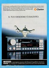 QUATTROR985-PUBBLICITA'/ADVERTISING-1985- CLARION - AUTORADIO