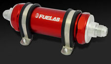 Fuelab In-line Fuel Filter 82802 -8AN 10 Micron Long Body 82802-2 RED