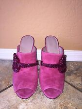Gucci Pink Suede Maxime Crystal High Heels size 8.5