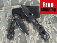 BLACK NINJA SR COLUMBIA POCKET FOLDING KNIFE w CASE OUTDOOR SURVIVAL GEAR