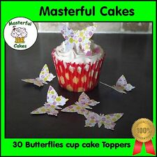 30 Edible Easter Egg Pre-Cut Design Butterflies Rice paper Cup Cake Toppers
