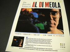 AL DI MEOLA has Powerful Visions 1985 Promo Poster Ad mint condition