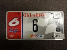 2010 Real OKLAHOMA Nascar License Plate #6 For Driver of Car #6 David Ragan