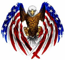 """American Flag Eagle Wings Decal 10"""" × 10"""" Free Shipping"""