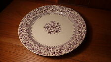 "ANTIQUE ENGLISH PORCELAIN PLUM/PURPLE TRANSFERWARE 10"" PLATE - T. FURNVAL  ALTON"