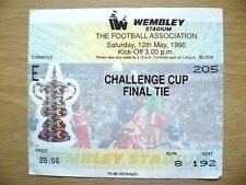 Tickets/ Stubs: FA CUP FINAL 1990- CRYSTAL PALACE v MANCHESTER UNITED
