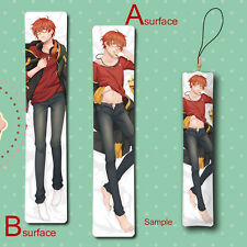 Mystic Messenger 707 Cool Man Male Anime Mini Dakimakura Keychain Phone Strap
