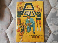 1982-83 ALABAMA STATE BASKETBALL MEDIA GUIDE Yearbook 1ST YR DI  1983 Program AD