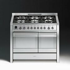 Smeg A2-8 Stainless Steel Opera 100cm Dual Fuel Range Cooker with 6 Gas Burners