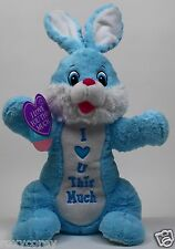 """Dan Dee 21 inch Blue Bunny with """"I Love You U This Much"""" NEW"""