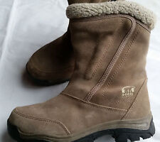 SOREL Women's Water Fall Boots Mid-Calf Insulated Waterproof Size 9 Beige,Snow