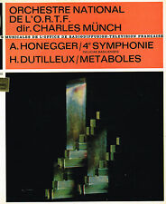 "LP 12"" 30cms: Charles Münch: Honegger - Dutilleux. erato"