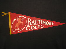 1950s Baltimore Colts NFL Pennant Odd RED Color Rare!
