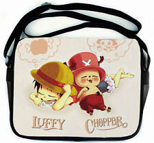 One Piece Ruffy Chopper Anime Manga Tasche Tragtasche Messenger Bag 35x28cm Neu