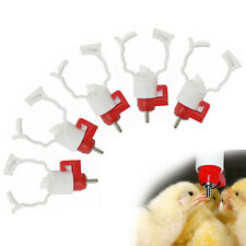 5Pcs Automatic Poultry Water Nipple Drinker Feeder for Chickens Geese Duck New