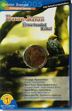 Malaysia Coin Card - Endangered Birds Series No.1 Straw-headed Bulbul