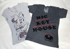 Disney Minnie Mickey Mouse T-shirt Lot of 2 Short Sleeve Gray Size Small