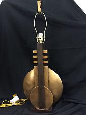 UNIQUE VINTAGE ART DECO WOOD TABLE LAMP