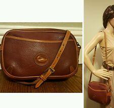 Dooney & Bourke Vintage Rouge Burgundy Zip Top Crossbody Messenger Bag RARE!