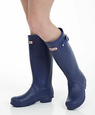 Women's Wellies - Ladies Navy Blue Wellington Boots - Size 4 UK - EU 37