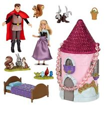 Disney Store Aurora Sleeping Beauty Mini Castle Doll Playset Princess Gift NEW